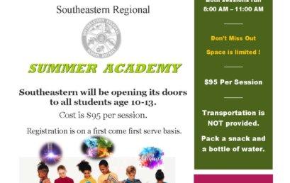 Southeastern Regional Vocational Technical High School to Host Summer Academy