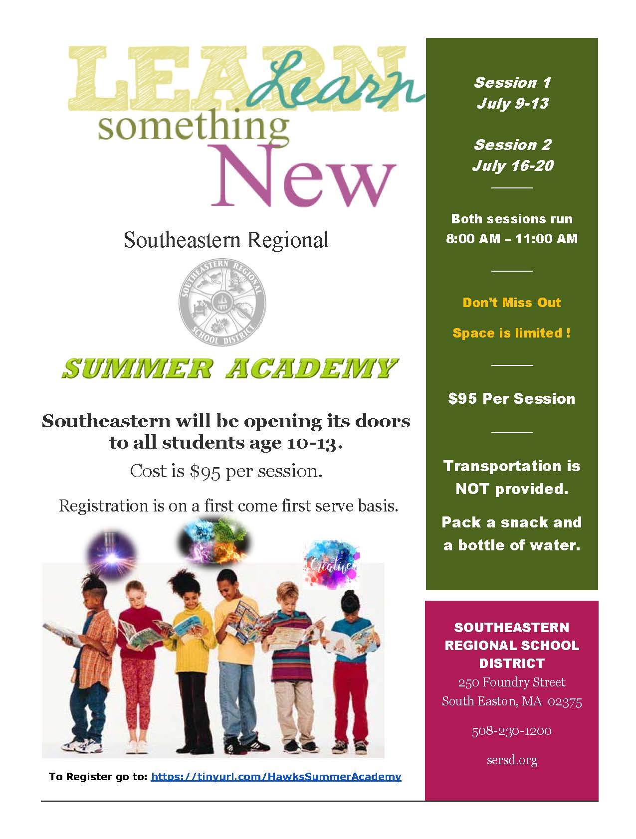 Southeastern Regional Vocational Technical High School to Host Summer Academy