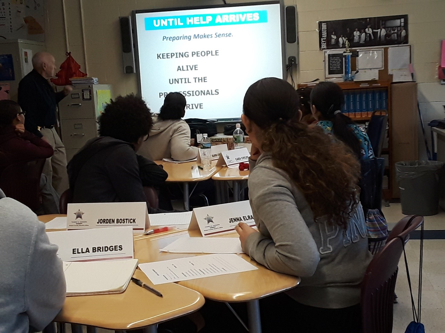 Grade 10 Medical Assisting students provided a training program called 'Until Help Arrives'