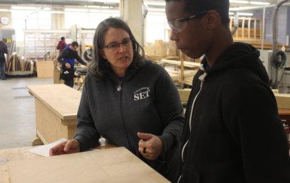 Teacher Spotlight:  Jennifer McNally, Carpentry