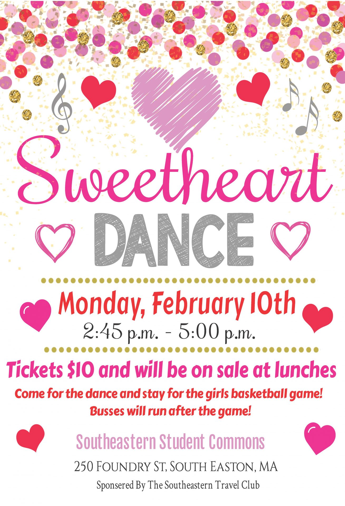 Sweetheart Dance and Girls Basketball Pack the Place