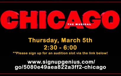 CHICAGO auditions – March 5, 2020