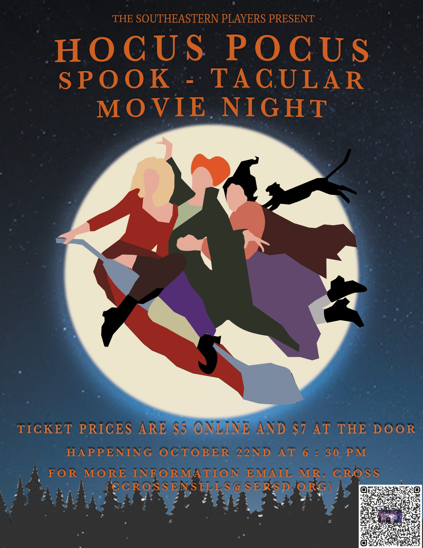 Kid Friendly Event – Southeastern Players presents HOCUS POCUS (A Family Friendly Halloween Movie Night)